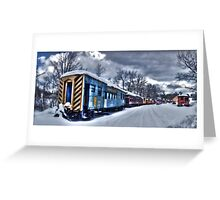The Snow Train Greeting Card