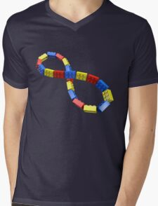 Toy Brick Infinity Mens V-Neck T-Shirt