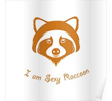 I am Sexy Raccoon Poster