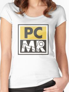 PC Master Race - Patch (Full Size For Shirt) Women's Fitted Scoop T-Shirt