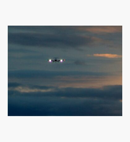 Rainy Night Flight Photographic Print