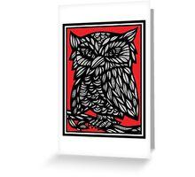Kleiber Parrot Red White Black Greeting Card