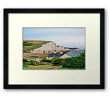 Coastguard Cottages at Seven Sisters #2, Seaford, England Framed Print
