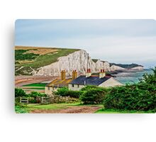 Coastguard Cottages at Seven Sisters #2, Seaford, England Canvas Print