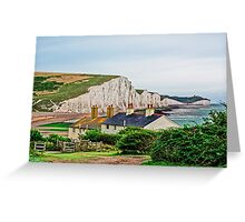 Coastguard Cottages at Seven Sisters #2, Seaford, England Greeting Card