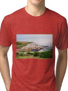 Coastguard Cottages at Seven Sisters #2, Seaford, England Tri-blend T-Shirt