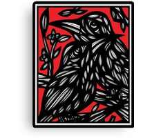 Mcculough Parrot Red White Black Canvas Print