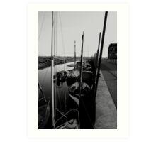 Blakeney Harbour in B&W Art Print