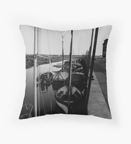 Blakeney Harbour in B&W Throw Pillow