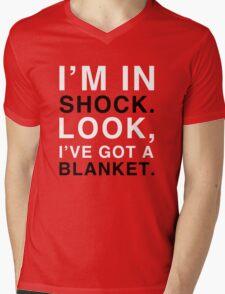Shock Blanket Mens V-Neck T-Shirt