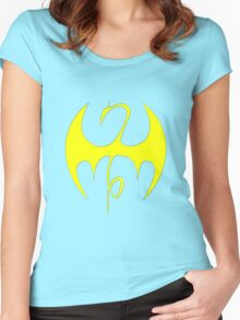 Iron Fist (Yellow) Women's Fitted Scoop T-Shirt