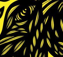 Keawe Bird Yellow Black Sticker