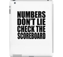 Jay-Z - NUMBERS DON'T LIE CHECK THE SCOREBOARD iPad Case/Skin