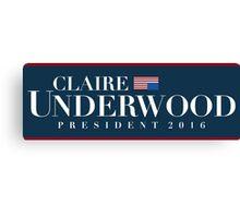 Claire Underwood Canvas Print