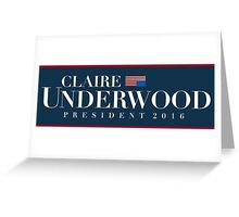 Claire Underwood Greeting Card