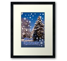 Merry Christmas- a collaboration with Reflector Framed Print