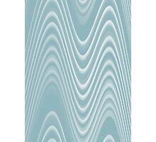 light blue double swerve Photographic Print