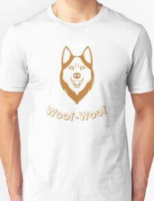 Print of fun Husky T-Shirt