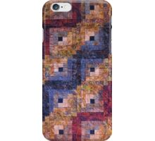 """Autumn Leaves"" Log Cabin Quilt iPhone Case/Skin"