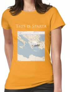 Actually, This is Sparta. Womens Fitted T-Shirt