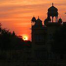Sunset over Jaisalmer by amulya