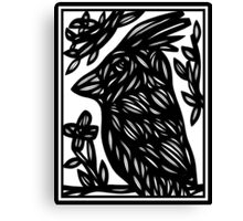 Agerton Bird Black and White Canvas Print