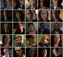 X-Files Main Characters Tile by JasherDrake