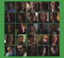 X-Files Main Characters Tile Kids Clothes