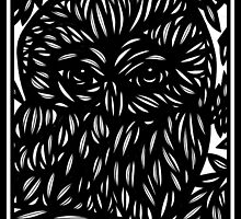 Alacano Owl Black and White by martygraw