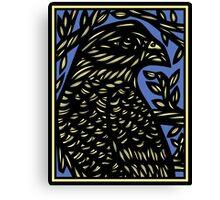 Bevilaqua Eagle Hawk Blue Black Canvas Print