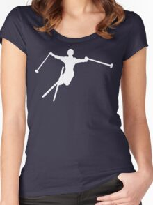ski : silhouettes Women's Fitted Scoop T-Shirt
