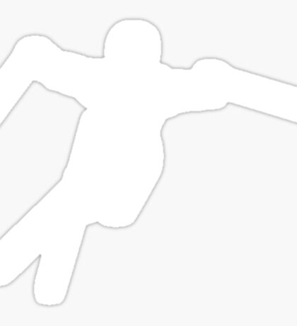 ski : silhouettes Sticker