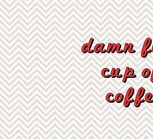 Twin Peaks - Damn Fine Cup Of Coffee - Funny Coffee Mug by TurtlesSoup