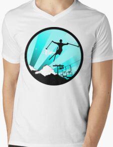 ski : powder trail Mens V-Neck T-Shirt