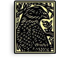 Krishun Eagle Hawk Green Black Canvas Print