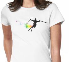 ski : powder trail Womens Fitted T-Shirt