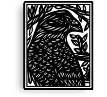 Petrey Eagle Hawk Black and White Canvas Print