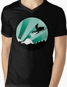 snowmobile : powder trail Mens V-Neck T-Shirt