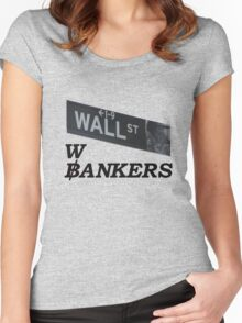 wall st Women's Fitted Scoop T-Shirt