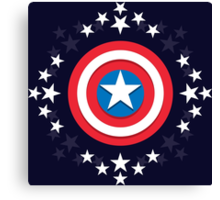 Captain America Stars - V.01 Canvas Print