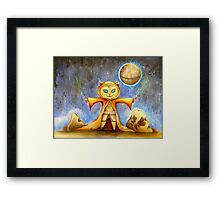 let the force be with you cute star war kitty Framed Print