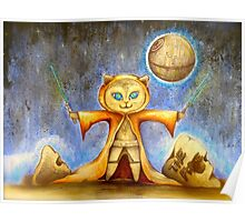 let the force be with you cute star war kitty Poster