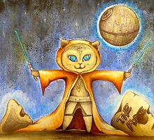 let the force be with you cute star war kitty by melaniedann