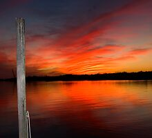 Louisiana Coastal Sunset III by KSkinner