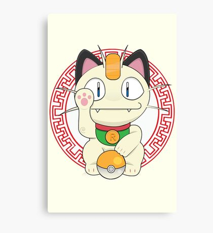 Maneki meowth Canvas Print