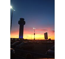 Manchester Airport Sunset Photographic Print