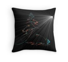Tree and the Night Star Throw Pillow