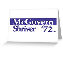 George McGovern Was the Democrat's nominee to take on Richard Nixon in 1972 Greeting Card