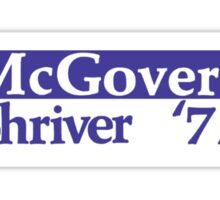 George McGovern Was the Democrat's nominee to take on Richard Nixon in 1972 Sticker