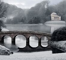 Frosty Morning at Stourhead by Amanda White